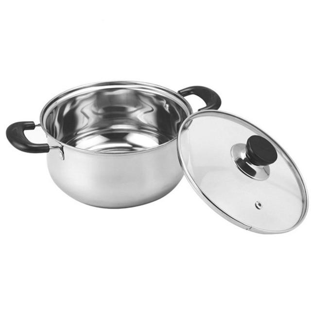 PREUP pot sup panci panci dapur memasak induksi gas universal boiler brew peralatan masak ganda tunggal menangani pot 1 pc