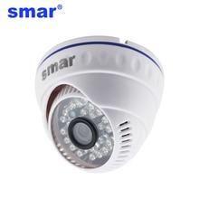 Smar H.265 20FPS Onvif Full HD 1080P Câmera IP H.264 720P Câmera Dome Segurança 24 LEDS IR POE /Áudio externo Opcional XMEYE