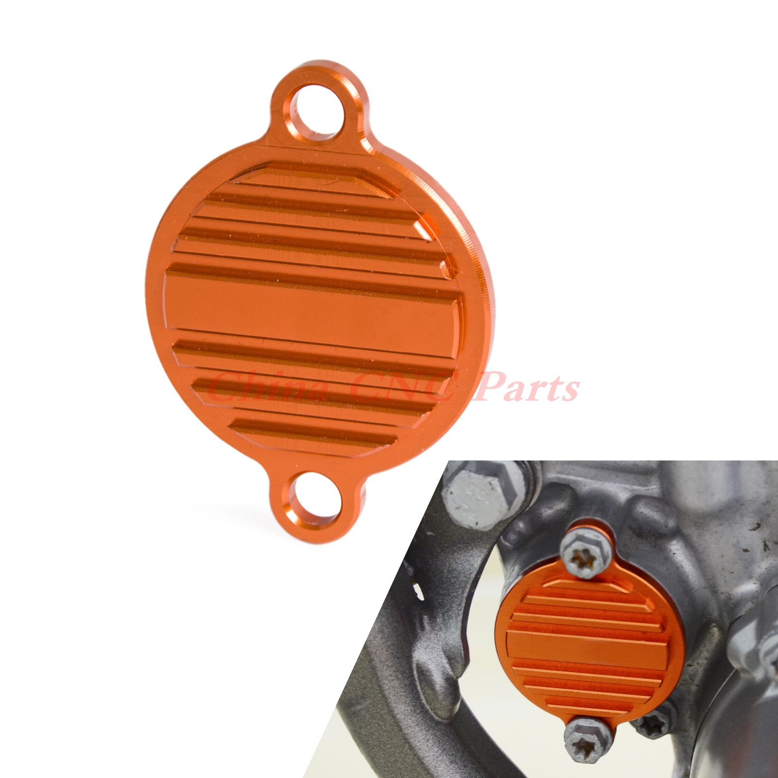 NICECNC New Billet Oil Filter Cover Fits For KTM 250 350 450 400 530 EXC EXC-F SX-F SXS-F SIX DAYS SMR Freeride 350 orange cnc billet factory oil filter cover for ktm sx exc xc f xcf w 250 400 450 520 525 540 950 990