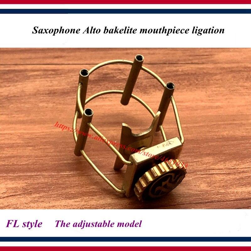 Saxophone Alto Bakelite Mouthpiece Ligation  - The Adjustable Model -  FL Style