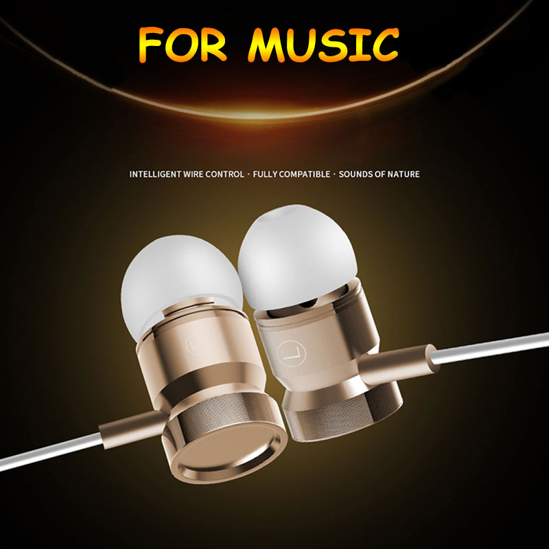 Earphone Super Bass Earbuds Stereo Headset With Mic for Panasonic Eluga Ray Max X