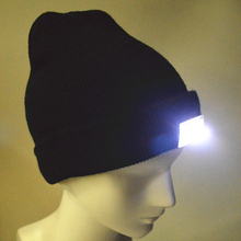 LED Jogging Lights Fishing Beanie Cap Outdoor Camping Hiking Hat Night Running Cap Men Weomen