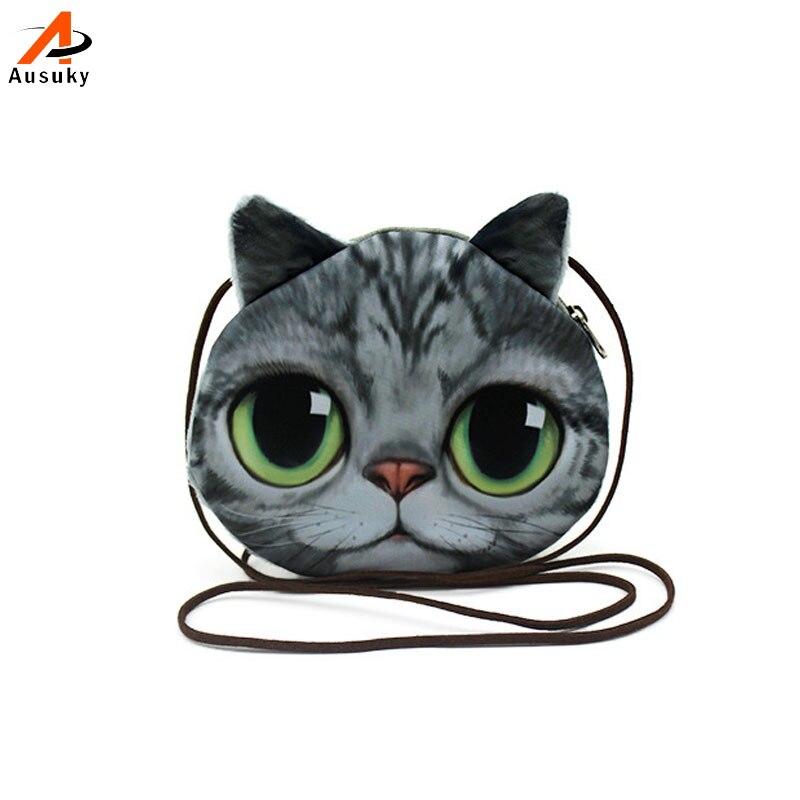 3D slatka Kitty Pliš novčanici za dječake Mačka / Psi životinje - Torbe - Foto 2