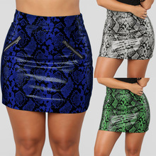 S-XL lady snake pattern pritn winter skirt  casual leisure bodycon women clothes