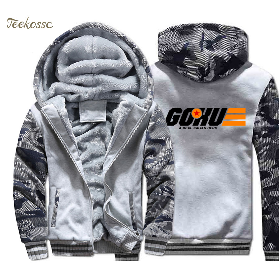 Anime Dragon Ball Hoodie Men Super Saiyan Hooded Sweatshirt Coat 2018 Winter Warm Fleece Thick High Quality Harajuku Jacket Mens in Hoodies amp Sweatshirts from Men 39 s Clothing