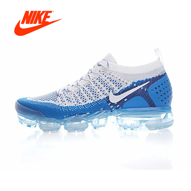 new arrival 39ff6 813e9 Original Authentic NIKE AIR VAPORMAX FLYKNIT 2 Mens Running Shoes Sneakers  Breathable Sport Outdoor Athletic Good Quality 942842