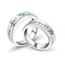 Free shipping 2013 new arrival forever love romantic lovers`ring/925 sterling silver finger rings jewelry wholesale цена в Москве и Питере