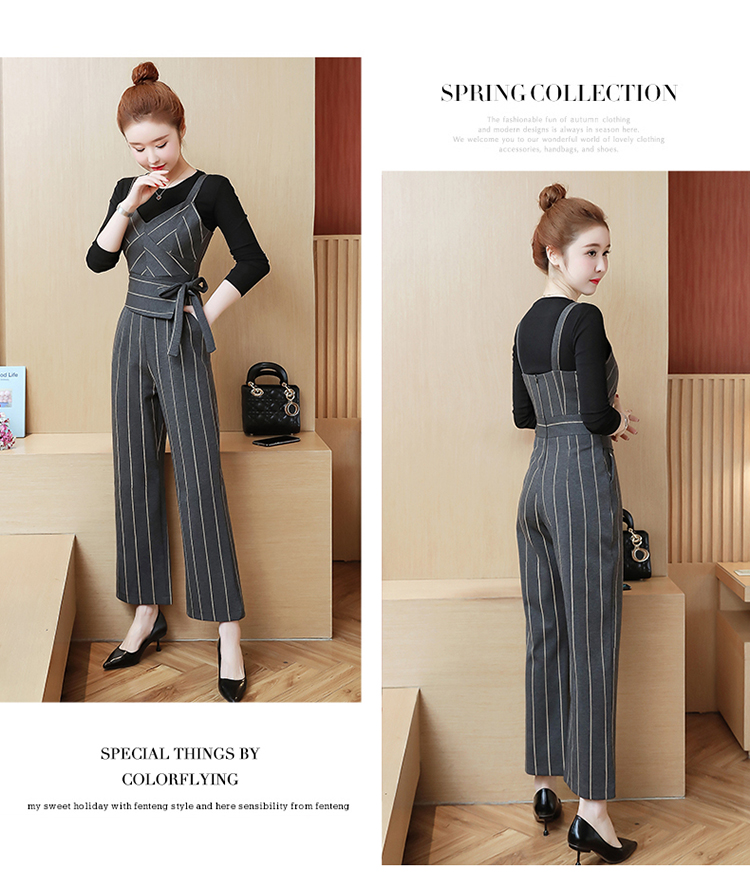 YICIYA Women outfits tracksuit sportswear Striped top and bib pants suits 2 piece set co-ord set OL Office 2019 bodycon clothing 18