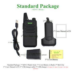 Image 5 - 10PCS custodia in pelle WLN di KD C1 KDC1 RT22 16 Canali Talkie Ham Radio UHF 400 470 MHz MINI handheld Ricetrasmettitore A due Vie Radio Communicator + Cavo