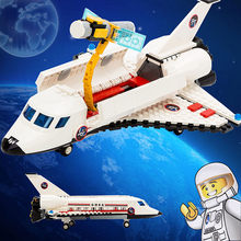 297pcs LegoING Spaceport Space Shuttle Spacecraft Building Blocks Sets Spaceship Creator Bricks Educational Toys For Children(China)