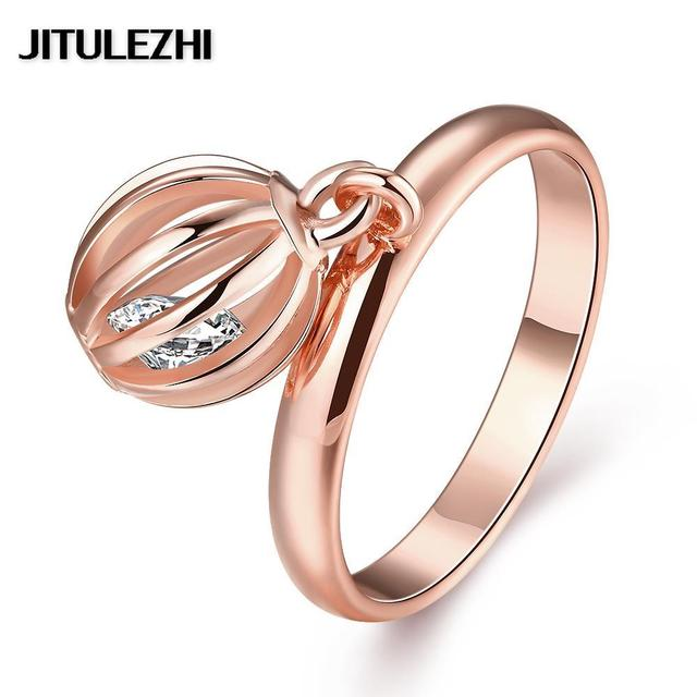 Gold Color Rings For Women Men Stone Wedding Ring Bridal Jewelry Joias Ouro Clic Brazilian