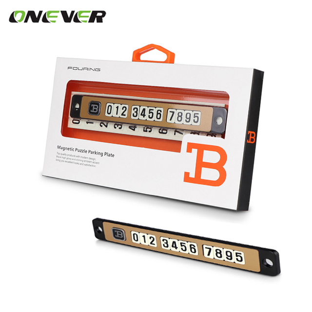 Car sticker temporary car parking card telephone number card notification night light sucker plate car styling