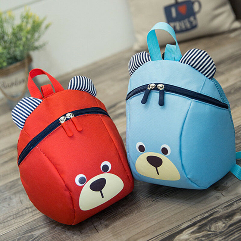 2019 New Lovely Cartoon Baby Kids Safety Anti-lost Harness Strap Bag Zipper Backpack With Reins