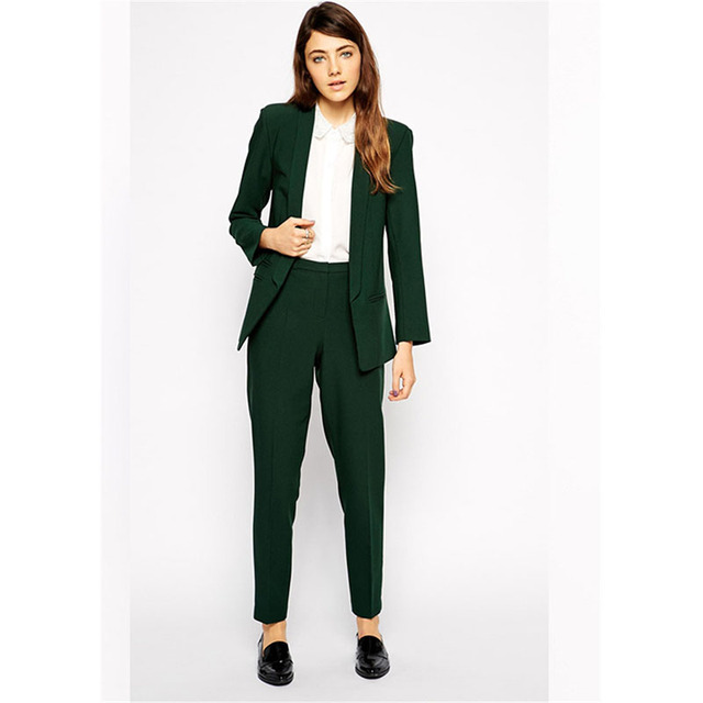 ce0f2da1885 High Quality Womens Suits Blazer with Pants Business Pants Suits for Women  Office Uniform Style Wedding Party Wear Custom Made