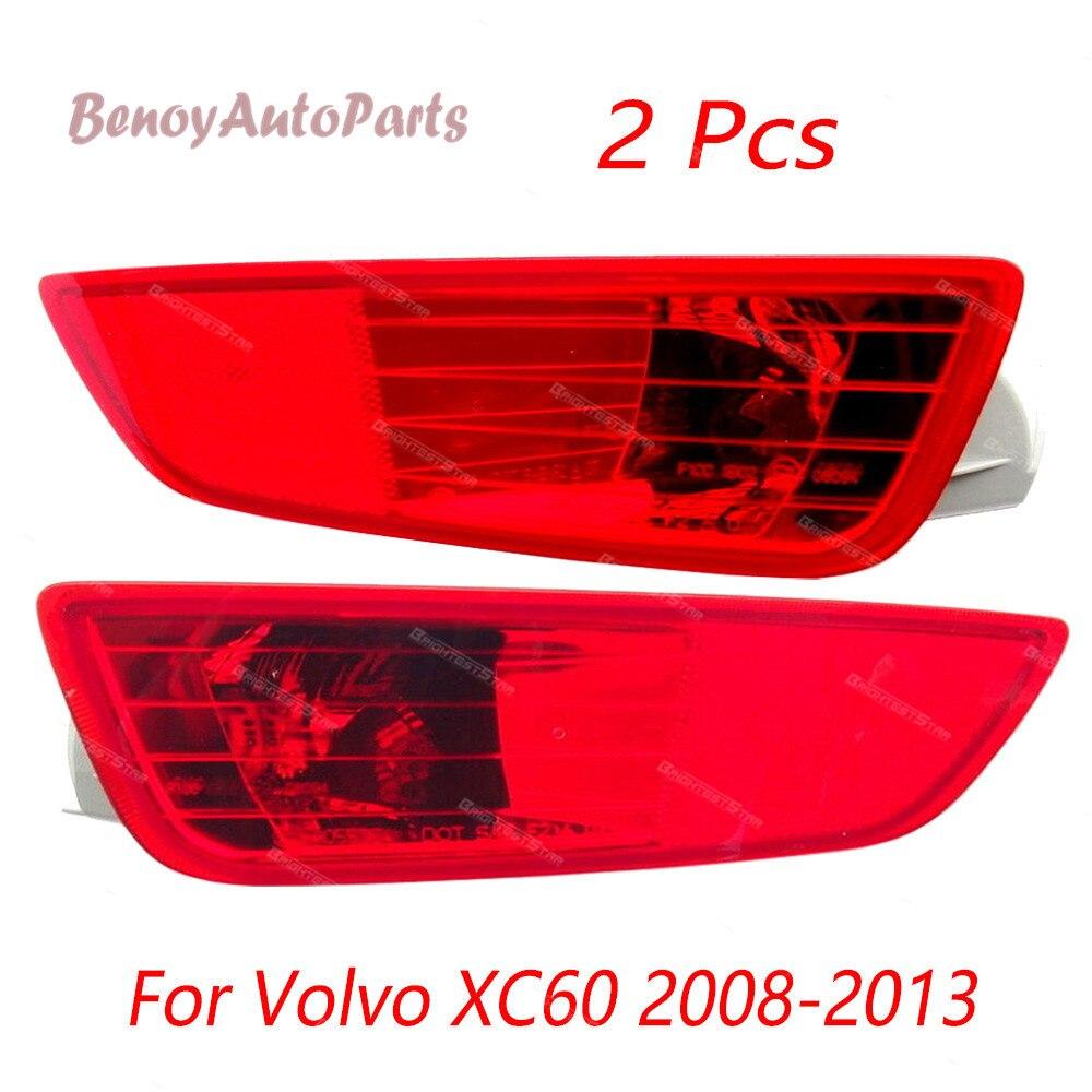 Nouveau feu arrière pare-chocs arrière gauche + couvercle droit réflecteur pour Volvo XC60 2008 2009 2010 2011 2012 2013 30763323 30763322