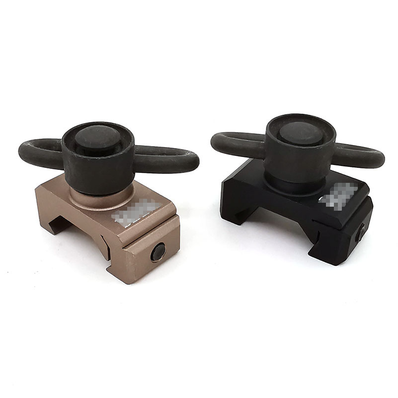 Quick Release Detach Push Button Sling Swivel Adapter Set Picatinny Rail Mount Base 20mm Connecting Sling Ring