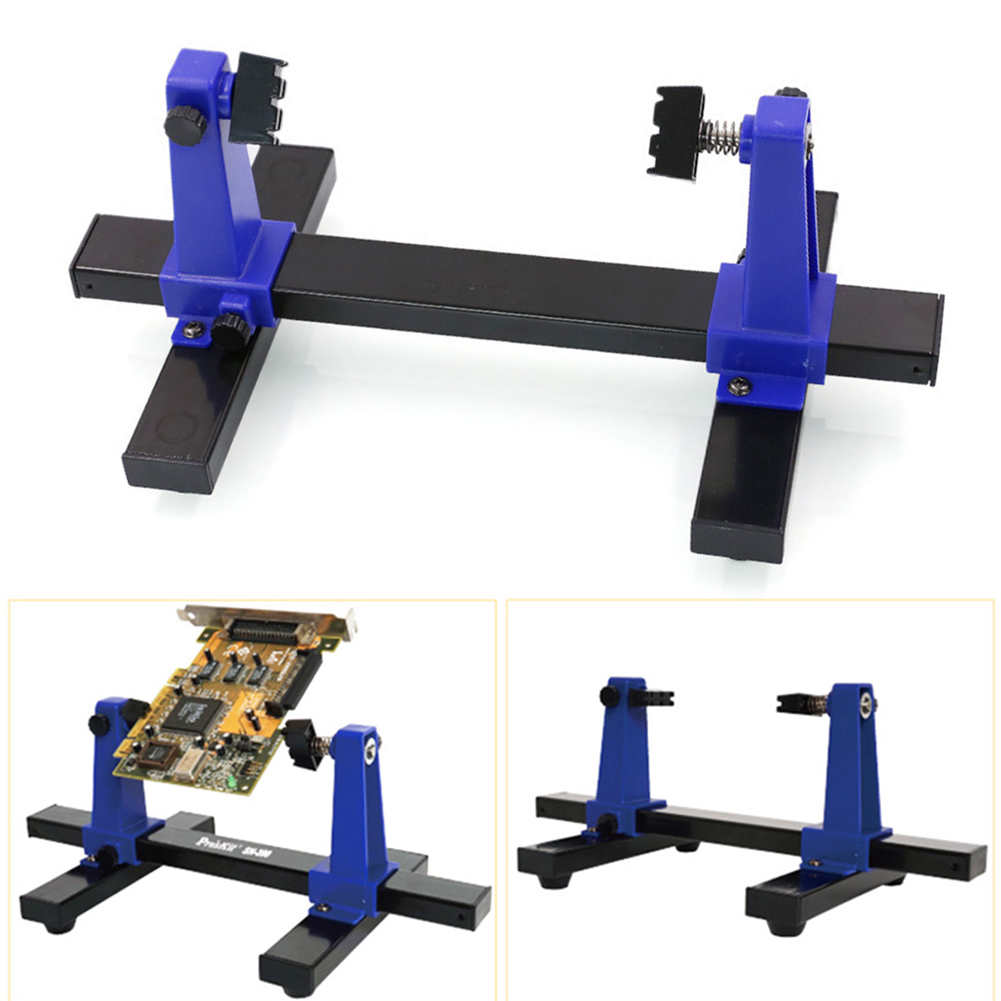 SN-390 Clamp Auxiliary 360 Degree Rotation Adjustable PCB Soldering Anti-slip Assembly Stand Jig Tool Frame Circuit Board Holder