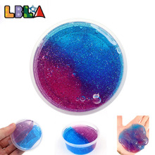 50g Hand Modeling Colorful Claying Crystal Glitter Putty Playing Dough Slimes Soft Toys For Children Kids DIY Girl