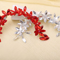 Coreano hecho a mano joyería Crystal Rhinestone tiara nupcial del pelo accesorios pelo de la boda