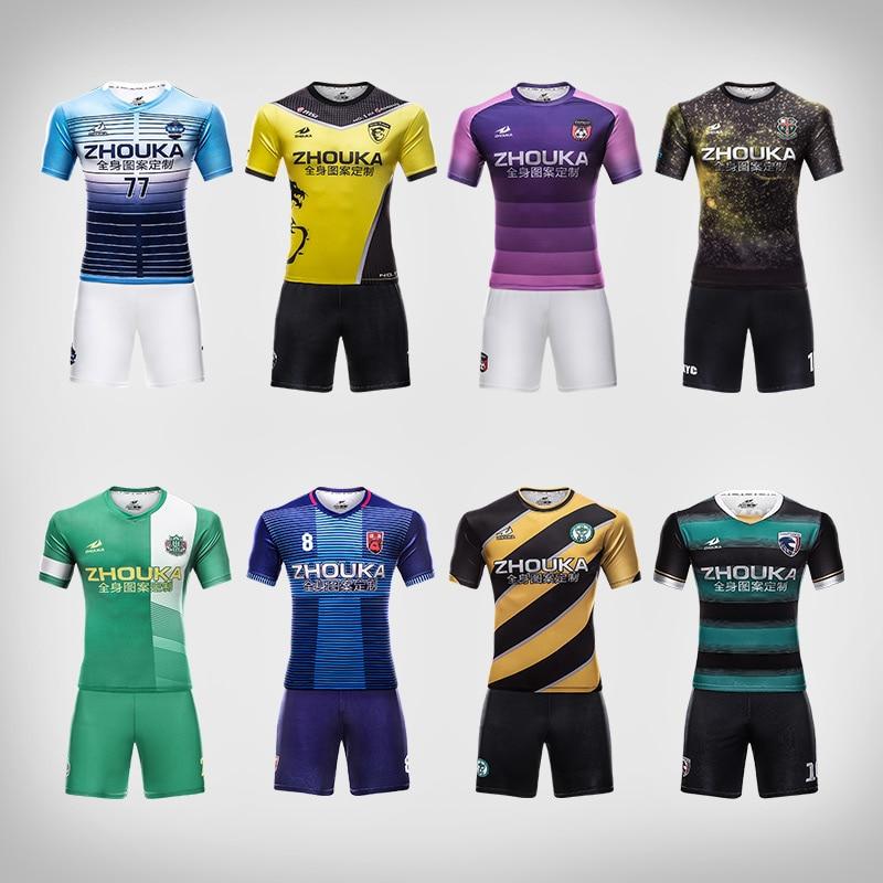 5e68d33f989fb Aliexpress.com  Comprar Personalizado camisetas de fútbol uniformes de fútbol  conjuntos de equipos de fútbol camisas 100% poliéster de secado rápido ...
