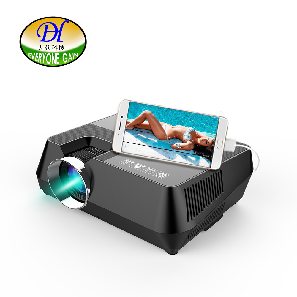 Everyone Gain S8 Data Show Mini Projetor Para Celular Cheap TV Projector Home Cinema Projector Support Wired Sycn LED Projecteur portable mini projector home cinema digital smart led projectors support 1080p movie pc video game can use mobile power supply