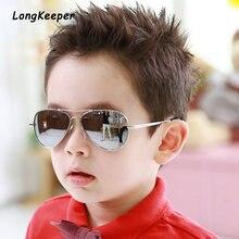 Брендовые детские солнцезащитные очки зеркальные металлические