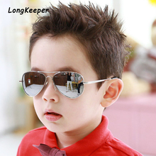 Brand Child Sunglasses Mirror Glasses Metal Pilot Sunglasses