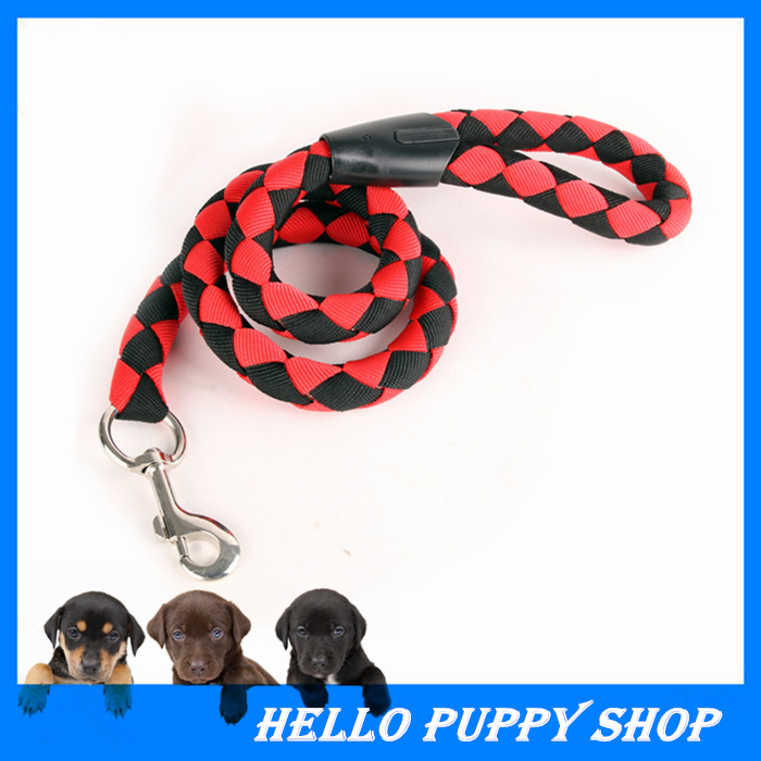 High Quality 120cm Strong Pet Dog Braided Nylon Rope Dog Leash Lead Durable Heavy Duty S M L Free Shipping