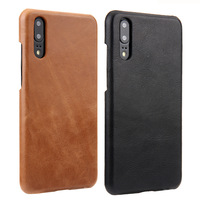 3 Colors Matte Genuine Leather Business Back Cover For Huawei P20 Real Frosted Cowhide Skin Phone