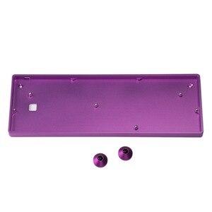 Image 5 - Funda de aluminio anodizado para teclado mecánico para jugar, GH60, venta al por mayor, Compatible con GK61x GK64x Pok3r, 60%
