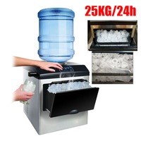 25KG Ice Maker ice making machine electric commercial or homeuse countertop Automatic bullet ice maker, ice cube making machine