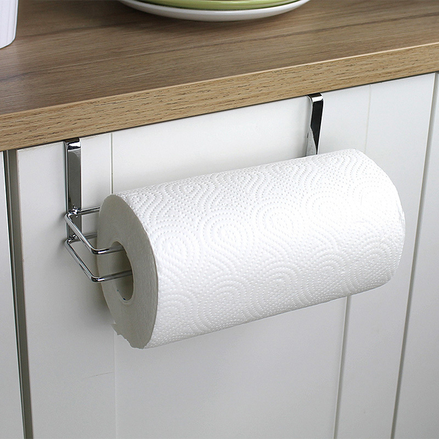 Convenient Paper Roll Holder Storage Bathroom Towel Dispenser Tissue  Container Rack Hanger Kitchen Bathroom Door Hanger