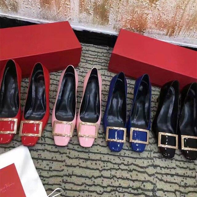 Kmeioo Shoes Women Ladies Genuine Leather Pumps Square Toe High Heels Slip On Stiletto Female Wedding Shoes