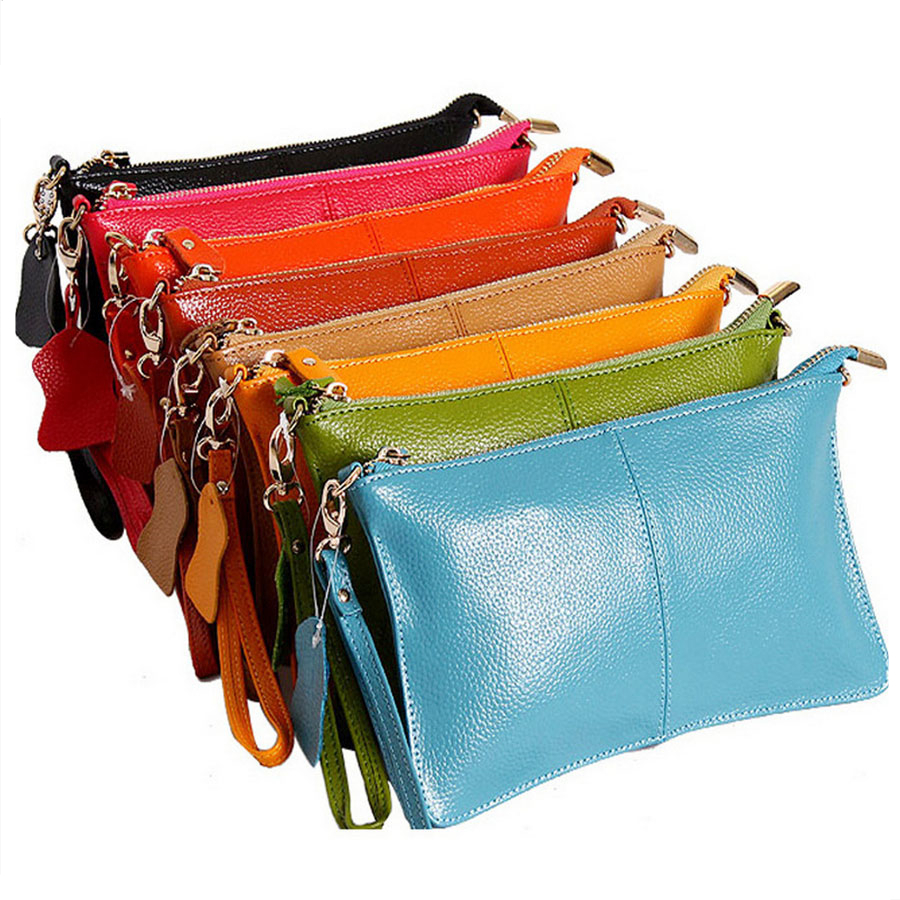 HMILY MINI Women Messenger Bag Genuine Leather Chain Strap Day Clutches Small Shoulder Crossbody Handy Wallet Ladies Handbag