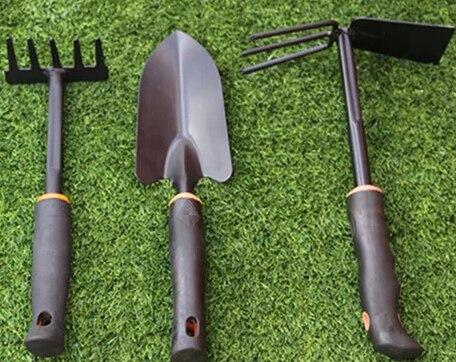 Large flower gardening tools shovel rake hoe Group Sets gardening ...