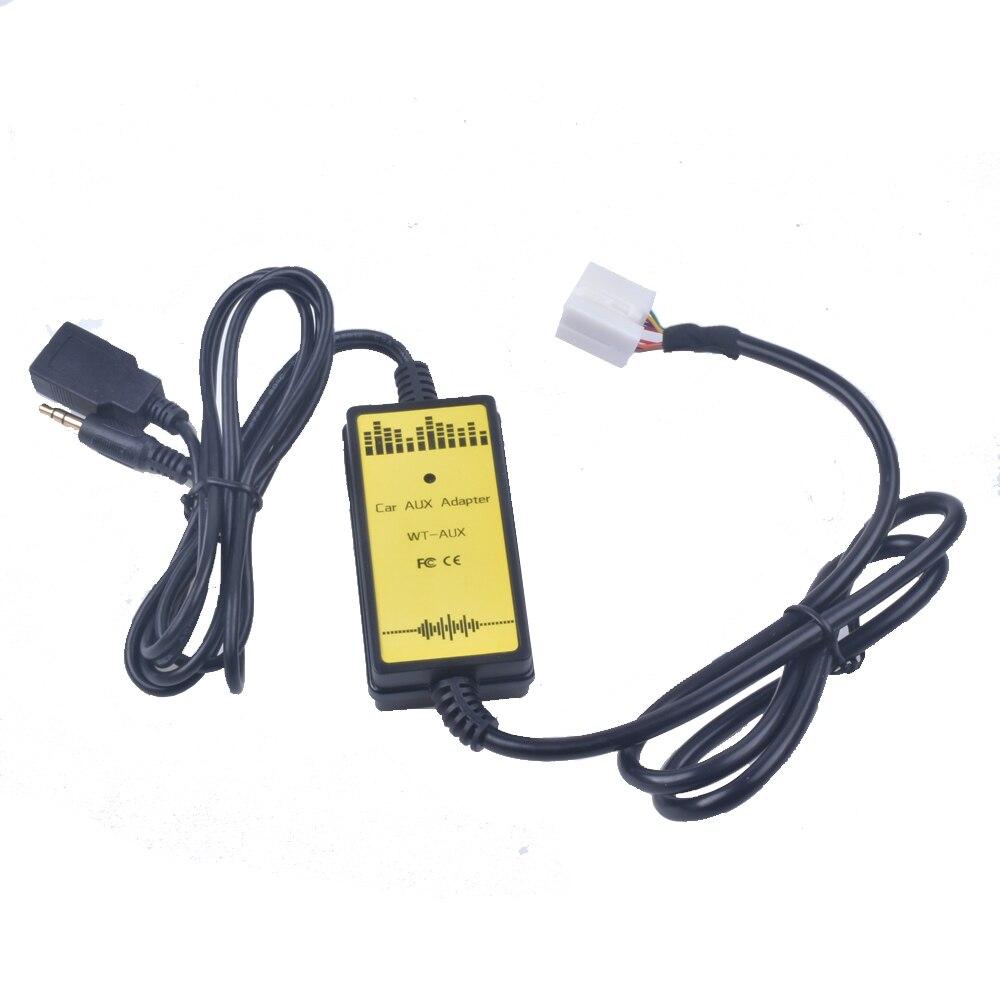 Adaptador de áudio usb para carro, interface de áudio mp3 sd aux, cabo de dados, conectar virtual, carregador de cd para honda acura, accord civic odyssey