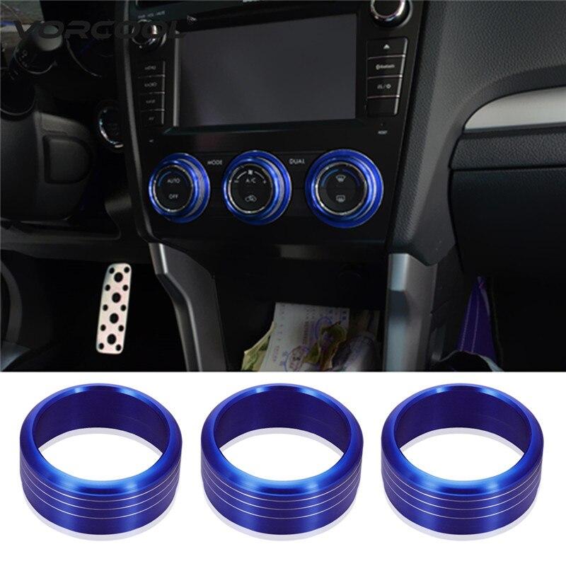 US $8 25 32% OFF|3Pcs Anodized Aluminum AC Climate Control Knob Ring Covers  For Subaru WRX STI Impreza Forester XV Crosstrek Car Styling -in Interior