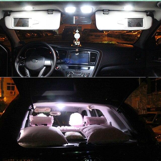 12v 6pcs LED interior light kit package for KIA Sorento 2009 2010 2011 2012 Dome Rear Trunk Vanity Mirror light car stying