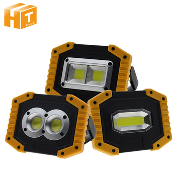 20W Portable LED Floodlight USB Charging LED Flashlight Outdoors Camping lamp  Rechargeable 18650 Battery Emergency Light.