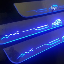 4 pcs Scuff Plate Door Sill threshold LED for 2017 2018 Toyota C-HR CHR Customized waterproof moving light