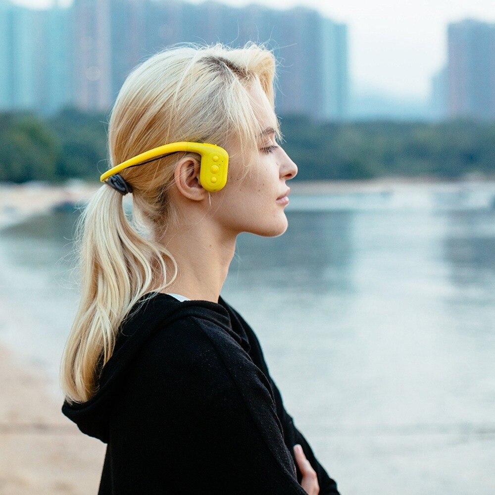 Tayogo Impermeabile Bluetooth conduzione Ossea MP3 HIFI cuffie sport mp3 player con Radio FM bluetooth Pedometro per il Nuoto