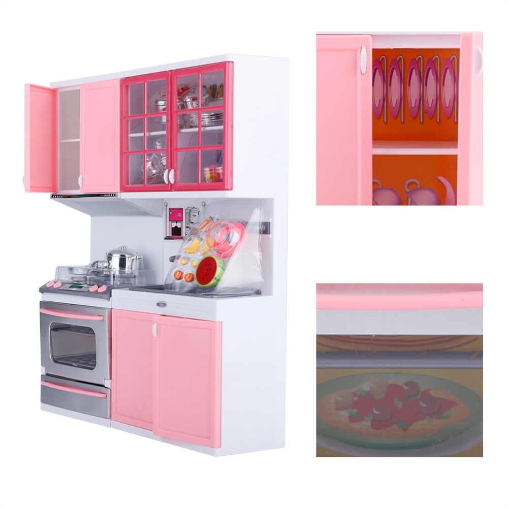 2018 Детские кухонные музыкальные игрушки, легкая игрушка для игры в повара, набор, Настольная имитация, многофункциональные игрушки для детей