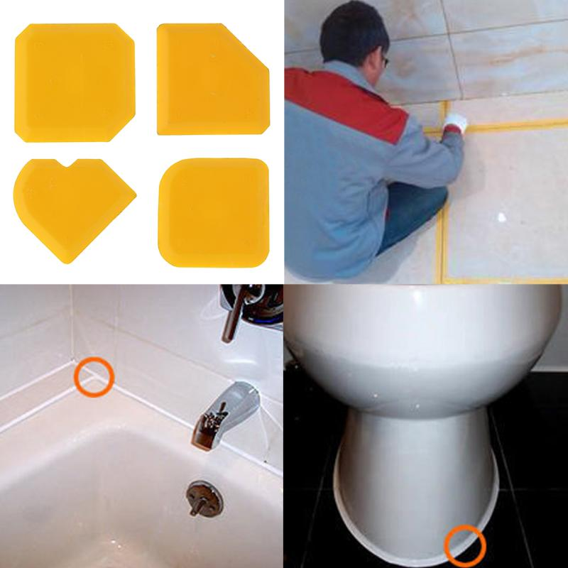 4pcs/set Caulking Tool Kit Caulk Finishing Joint Sealant Silicone Grout Remover Scraper Home & Garden Tool Kit Hand Tools