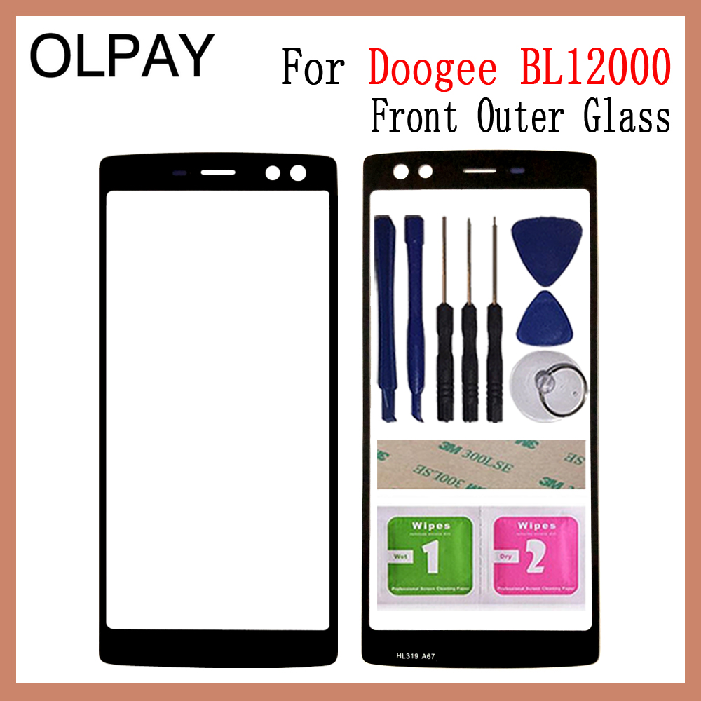 OLPAY 6.0 Inch 100% Original For Doogee BL12000 Touch Screen Panel Front Outer Glass Lens Touch Screen NO LCD Digitizer