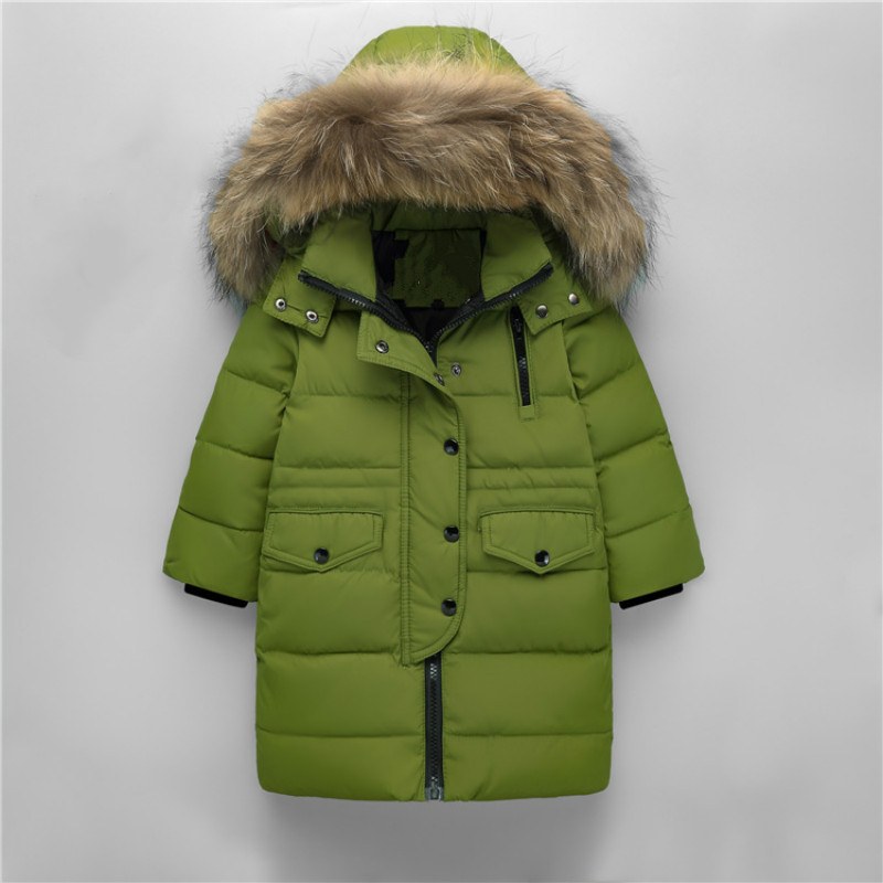 Brand Fashion Children Down Parkas New Outerwear Thick Warm Children's Down Jacket Boy Girl Long Sleeve Hoode -30degree пуховик для мальчиков brand new 110 150 drop boy outerwear page 3
