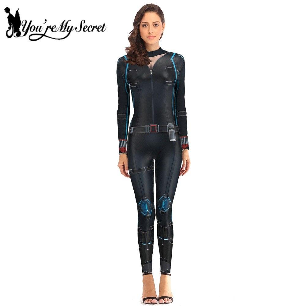 [Tu es Mon Secret] 2018 Cosplay Costume pour Femmes de Veuve Noire Avengers Infinity War Natalia Alianovna Romanova Body combinaison