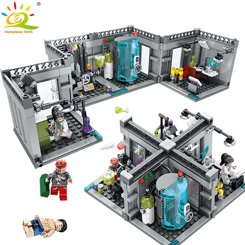 City Police Biochemical Lab Series Building Blocks Compatible Legoed technic classic Figures Enlighten bricks toys for Children