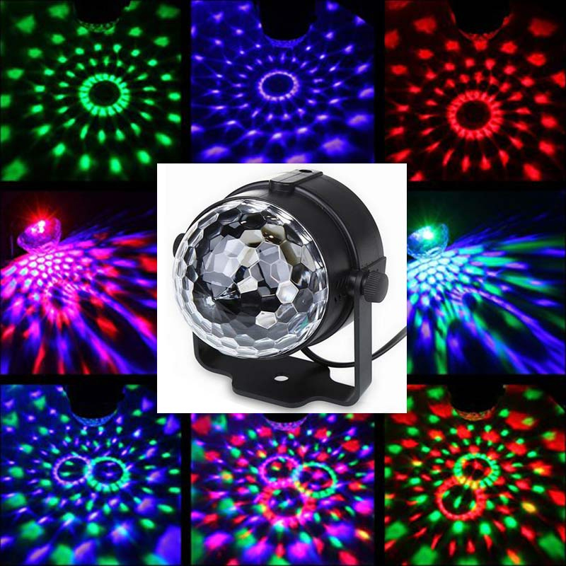 Mini Disco Light Portable Stage Lamp LED Party Lights RGB Remote Control Disco Ball Strobe Flash Lamp Holiday Home Stage Lights in Stage Lighting Effect from Lights Lighting