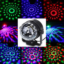 Mini Disco Light Portable Stage Lamp LED Party Lights RGB Remote Control Ball Strobe Flash Holiday Home