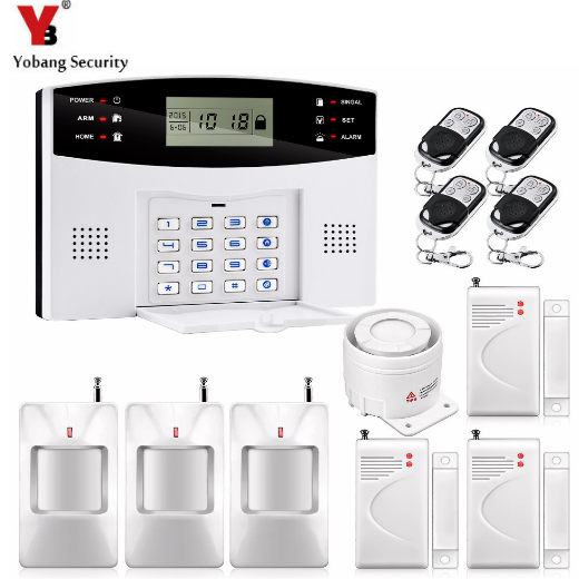 YobangSecurity Keyboard Wired Wireless GSM Home Security Alarm System Russian French Spanish Czech Italian Door Window Sensor